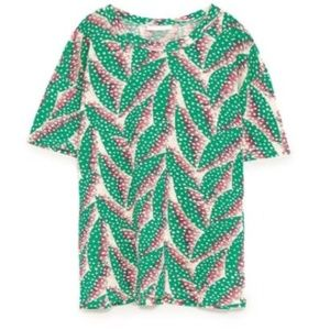Beautiful Zara Linen T-shirt with Rips